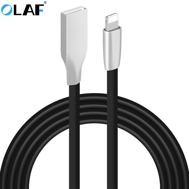OLAF 5V 2A USB Charger 3D Zinc Alloy Fast Charging Data Sync Charger USB Cable For iPhone 6 6s 7 Plus 5 5s SE iPad Air Mini
