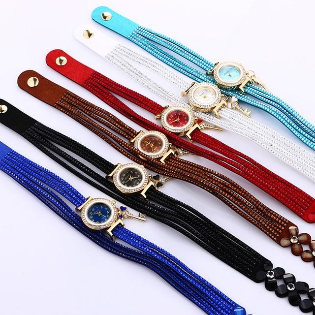 2018 Women watches New luxury Casual Analog Alloy Quartz Watch PU Leather Bracelet Watches Gift Relogio Feminino reloj mujer 5