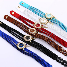 Women watches luxury Casual Analog Alloy Quartz Watch PU Leather Bracelet Watches