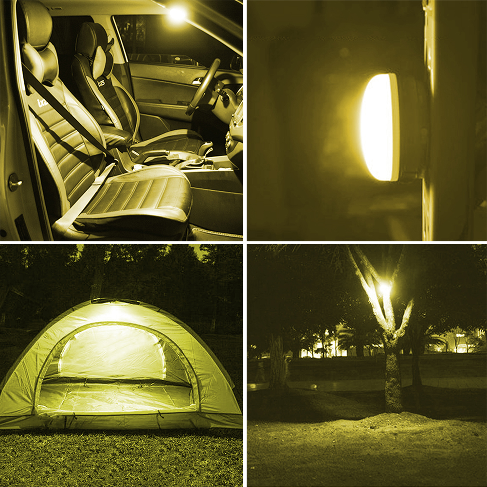 Lumiparty Mini LED Tent Camping Ligh Handheld Hanging Battery Powered LED Tent Camping L ...