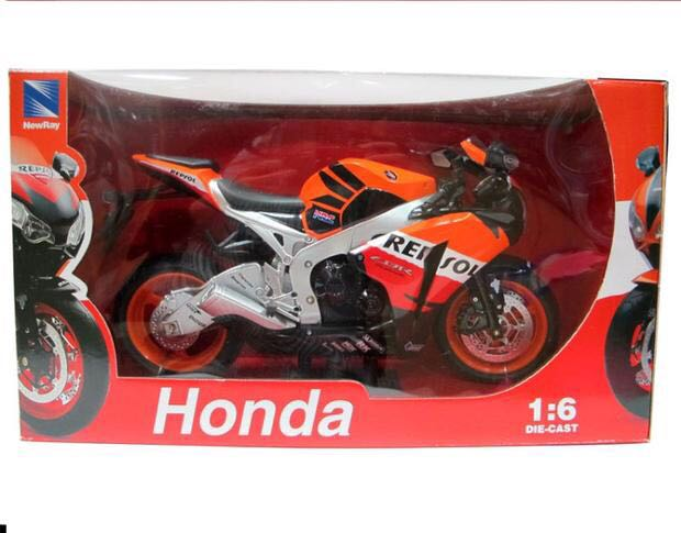Newray 1/6 Scale Motorbike Model Toys HONDA CBR 1000 RR Repsol Diecast Metal Motorcycle Model Toy For Gift,Kids,Collection