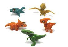4pcs/lot Handwork Jurassic Dinosaur World Of Park Toys For Kids Early Education Models Building Blocks Bricks figures