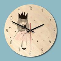 Мультяшные креативные настенные часы современный минималистичный гостиная креативные часы художественные часы принцесса