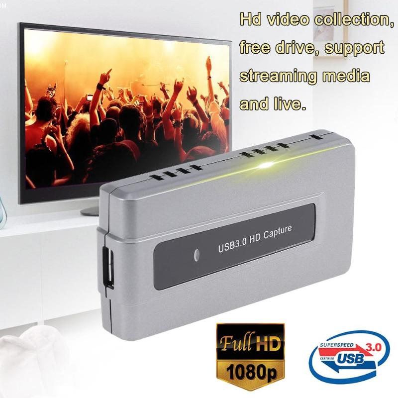 ALLOYSEED USB3.0 1080P HDMI Video Capture Card Box Live Streaming HDMI Capture Dongle support streaming media and live broadcast недорго, оригинальная цена