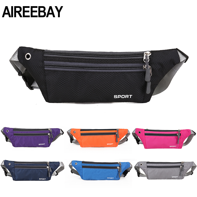 AIREEBAY Fashion Mini Fanny Pack For Women Men Portable Colorful Waist Pack Travel Multifunctional Waterproof Phone Belt Bag