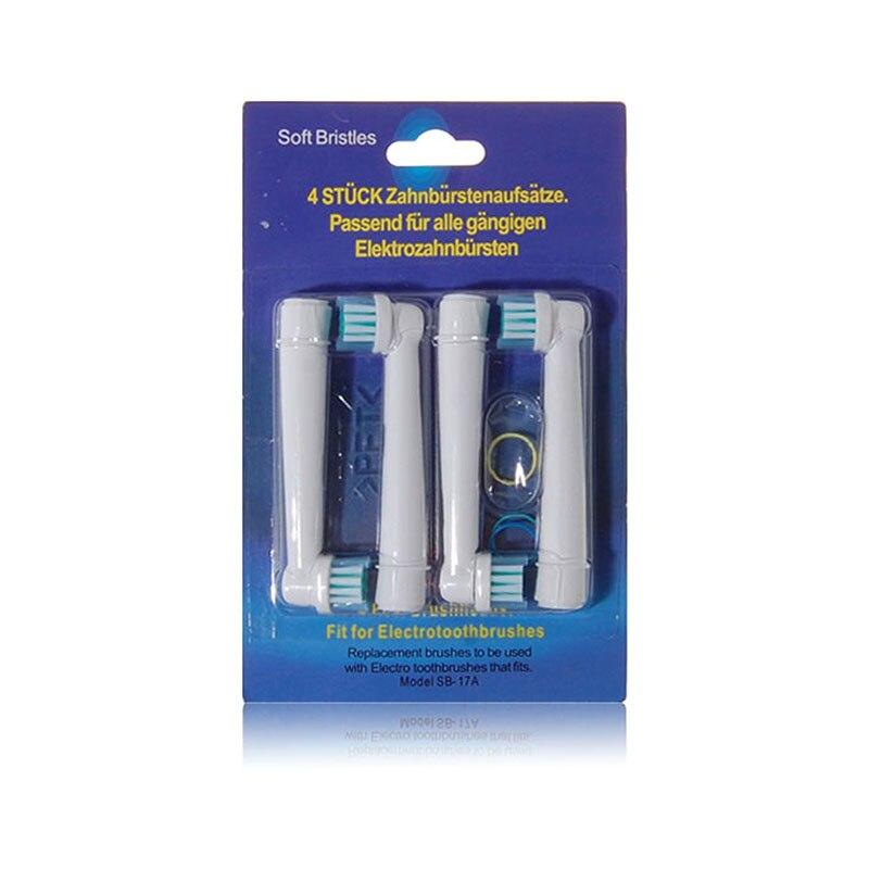 4 шт./лот Электрический Зубная щётка глав Замена для Oral B гигиены Чистота электрическая зубная щетка EB 17 SB-17A