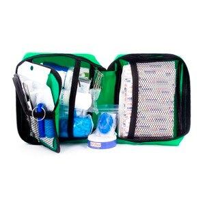 Image 2 - 220 قطعة مجموعة الإسعافات الأولية الصغيرة المحمولة مقاومة للماء حقيبة إسعافات أولية للسيارة المنزل السفر التنزه التخييم في الهواء الطلق صناديق العدة للطوارئ