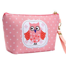 Outtop Cosmetische Zak 1 Pc Make-Up Tassen Vrouwen Draagbare Uil Cosmetische Case Pouch Zip Toilettas Travel Make Clutch Bags Jan25(China)