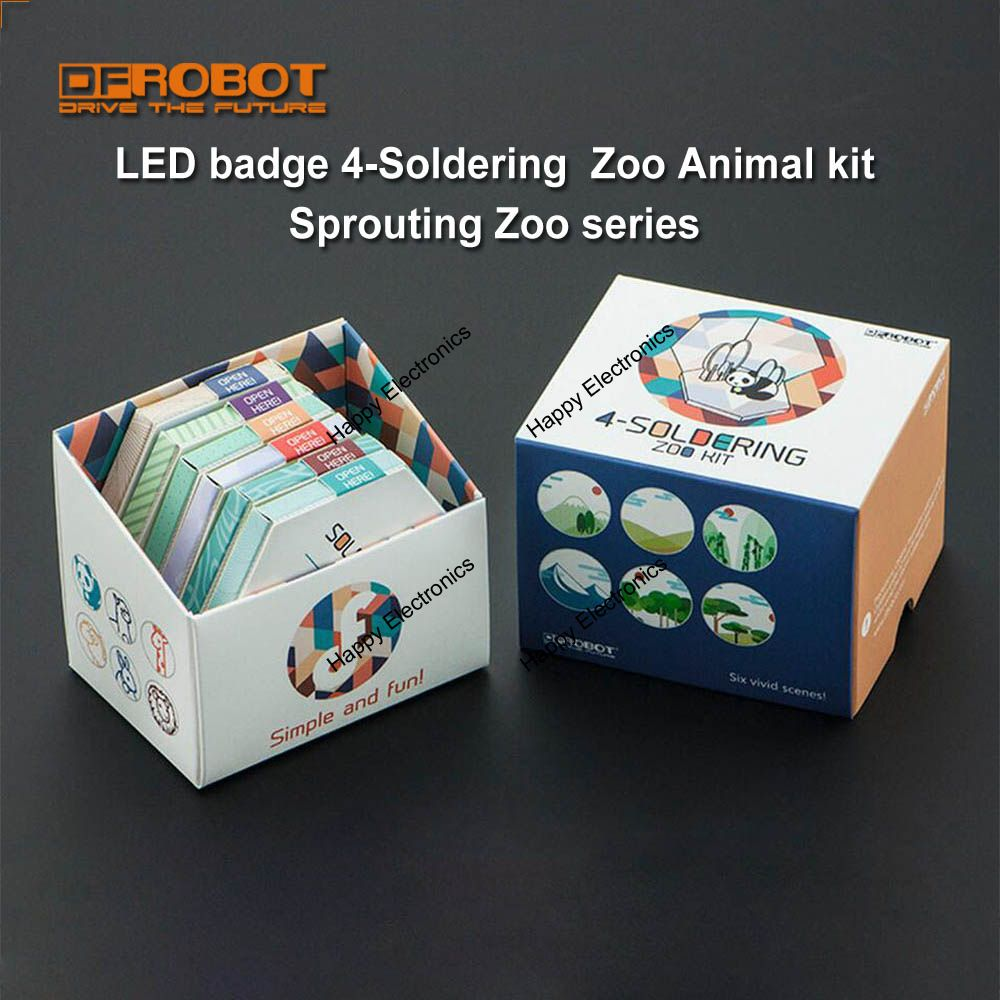 Diy Dfrobot 4 Soldering Zoo Animal Kit Led Badge Welding How To Explain Basic Electronics For Kids Sprouting Series Children Learn Circuit In Demo Board From Computer