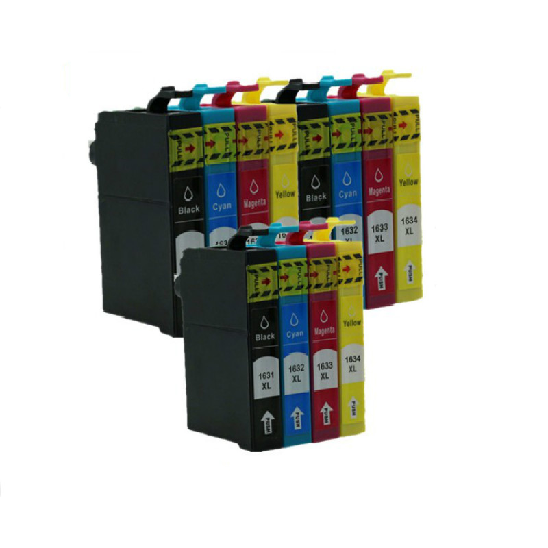 12X T16XL T1631 T1621 Compatible ink Cartridge For Epson Workforce WF 2010W 2510WF 2520NF 2530WF 2540WF inkjet printer in Ink Cartridges from Computer Office
