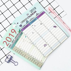 1Pc 2019 365 days Paper Wall Calendar Office School Daily Planner Notes Large Study Plan List New Year Plan Schedule