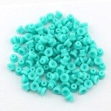 Argolas de borracha macia de silicone, 100 pçs/saco de alta qualidade, verde, para agulhas de máquina de tatuagem, fonte de agulhas TMP 60