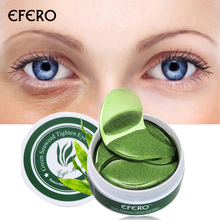 60 pcs Collagen Crystal Eye Mask Green Gel Eye Patches Skin Care Face Care Anti Wrinkle Remove Eye Bags Dark Circles Sleep Masks collagen crystal eye mask gel eye patches skin care sheet masks remover dark circles anti aging bags eye anti wrinkle patch 60pc