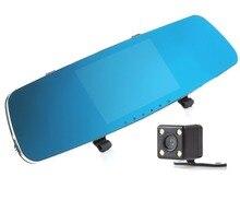 "Mksup 5 ""Novatek 96655 Full HD 1080 P Tablero de Coches Cámara Grabadora de 140 Grados g-sensor Dual de la Lente Del Coche DVR Retrovisor espejo Cámara Trasera"