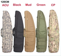 Tactical 120CM Heavy Duty Tactical Gun Slip Bevel Carry Bag Rifle Case Shoulder Backup Pouch For