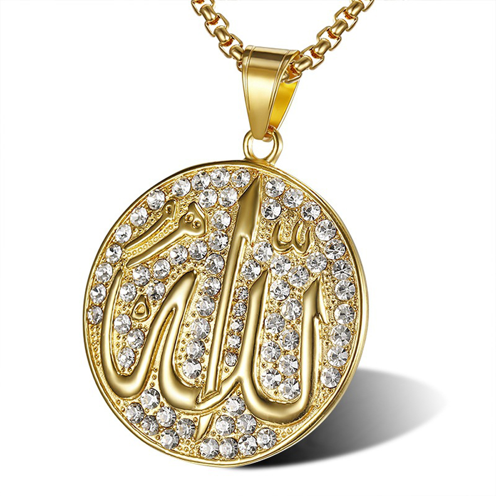 Stainless Steel 316L Hip Hop Jewelry Arab Muslims Pendant&Necklace For Men And Women SN101