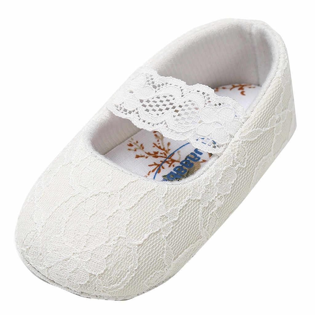 아기 남성과 여성 단색 면화 신발 어린이 레이스 슬립 온 부드러운 바닥 유아 신발 2019all 계절