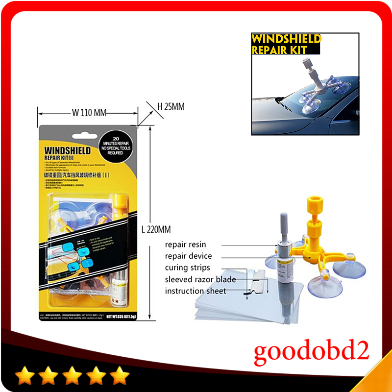 Car Auto Glass Windscreen Windshield Repair Tool DIY Dent Remove Car Kit Wind Glass Hand Tools For Chip Crack Repair the dents