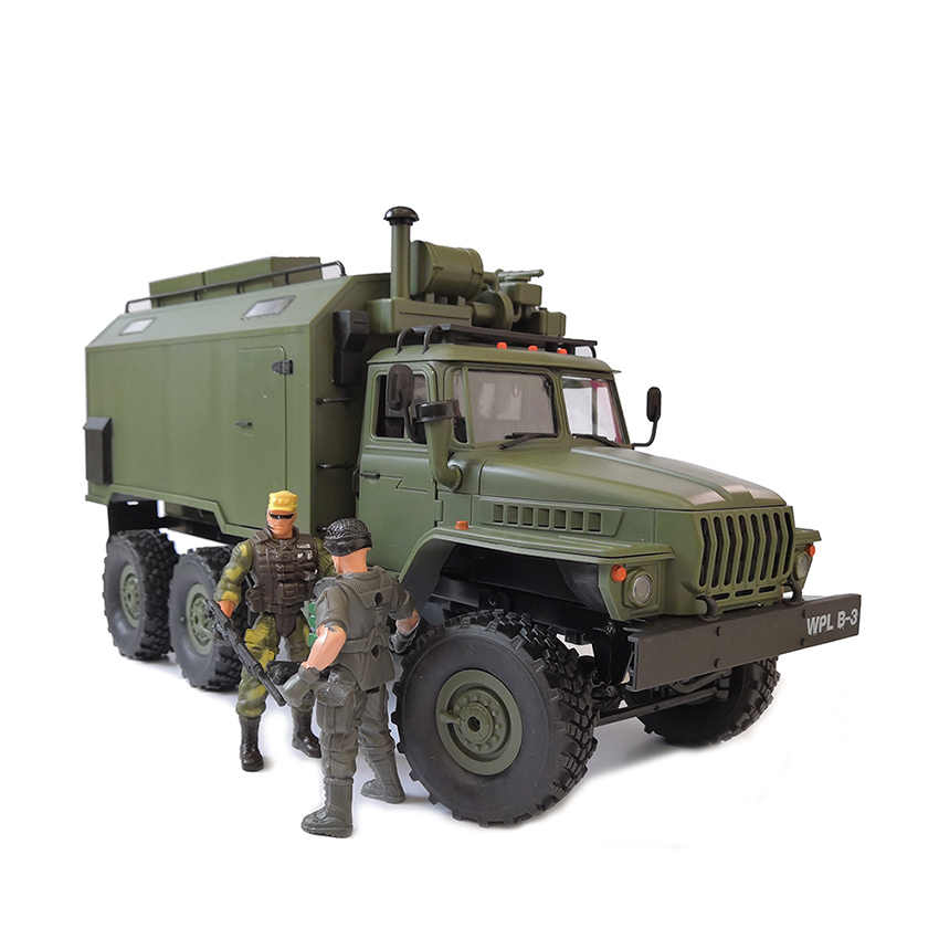 NEW toy 1:16 2.4G 6WD WPL B-36 B36 VS C24 B-24 Ural Rc army Car Military rc Truck outdoor Rock Crawler Command Vehicle RTR