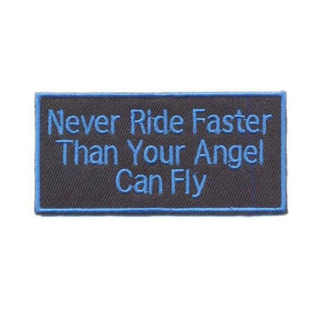 10pcs New Never Ride Faster Than Your Angel Can Liy Personalized