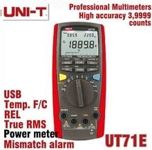 UNI-T UT71E LCD Intelligent Multimètre Numérique Avec Interface USB Fréquence Testeur Compteur puissance 2500 W USB vrai RMS