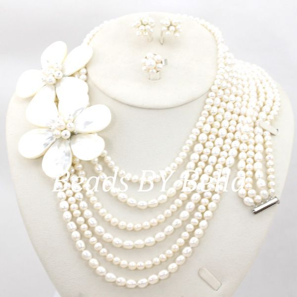 New Pearl Beads Jewelry Set African Wedding Bridal Jewelry Set Women Costume Necklace Fashion Set Free Shipping ABC1100New Pearl Beads Jewelry Set African Wedding Bridal Jewelry Set Women Costume Necklace Fashion Set Free Shipping ABC1100