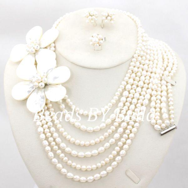 Nouveau perle perles ensemble de bijoux mariage africain bijoux de mariée ensemble femmes Costume collier mode ensemble livraison gratuite ABC1100