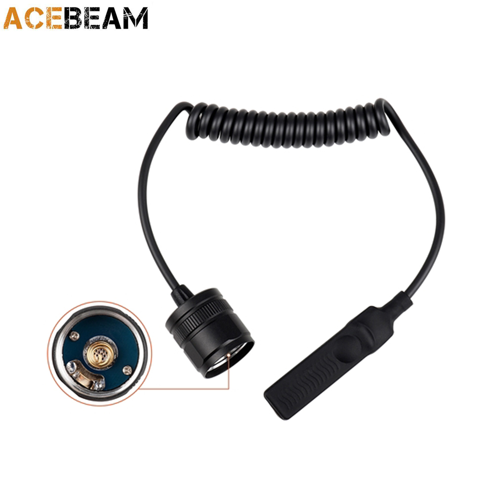 REMOTE PRESSURE SWITCH( L16) for tactical flashlight ACEBEAM L16 комплект isidora черный бюст пояс и стринги s m