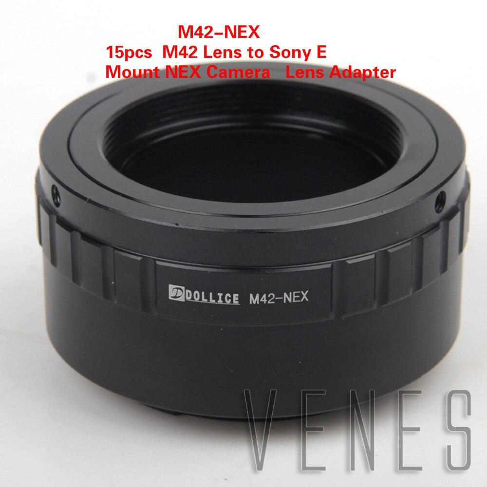 15 pièces M42-NEX Bague D'adaptation D'objectif Costume Pour M42 Objectif à Monture E Caméra NEX NEX-6 NEX-5R NEX-F3 NEX-7 NEX-5N NEX-5C NEX-C3 NEX-3