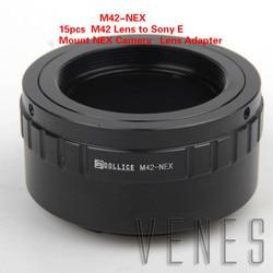 15pcs M42-NEX Lens Adapter Ring Suit For M42 Lens to E Mount NEX Camera NEX-6 NEX-5R NEX-F3 NEX-7 NEX-5N NEX-5C NEX-C3 NEX-3