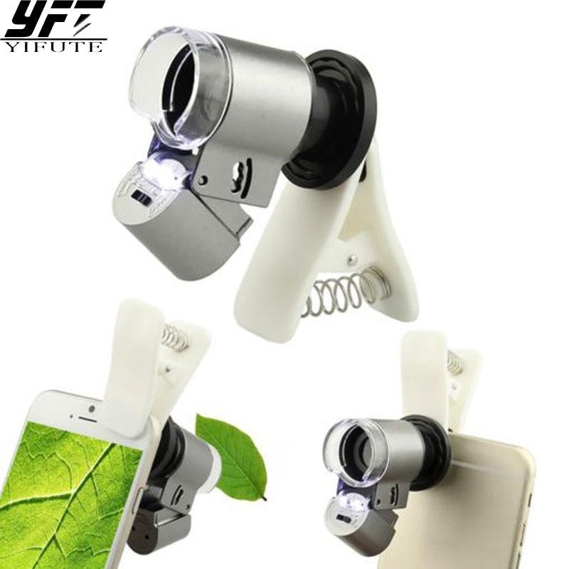 606f4b22f4a Mini lente de aumento de microscopio de vidrio óptico 65X con 3 lentes LED  para iphone 5S s 6 S 7 samsung huawei asus xiaomi redmi note en Lentes de  ...