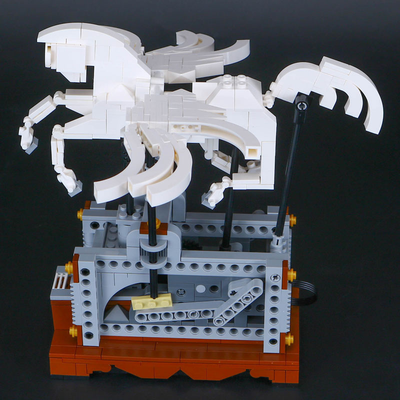 IN STOCK Lepin 23015 485Pcs Technic Series The Pegasus Automaton Mechanical Flying Horse Set Educational Building Blocks Bricks in stock lepin 23015 485pcs science and technology education toys educational building blocks set classic pegasus toys gifts