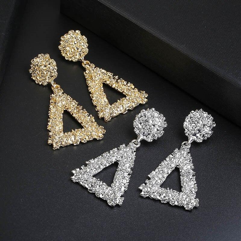 Metal Multicolored Drop Dangle Earrings For Women Geometric Wedding Party Vintage Earring Female Bohemian Jewellery 5