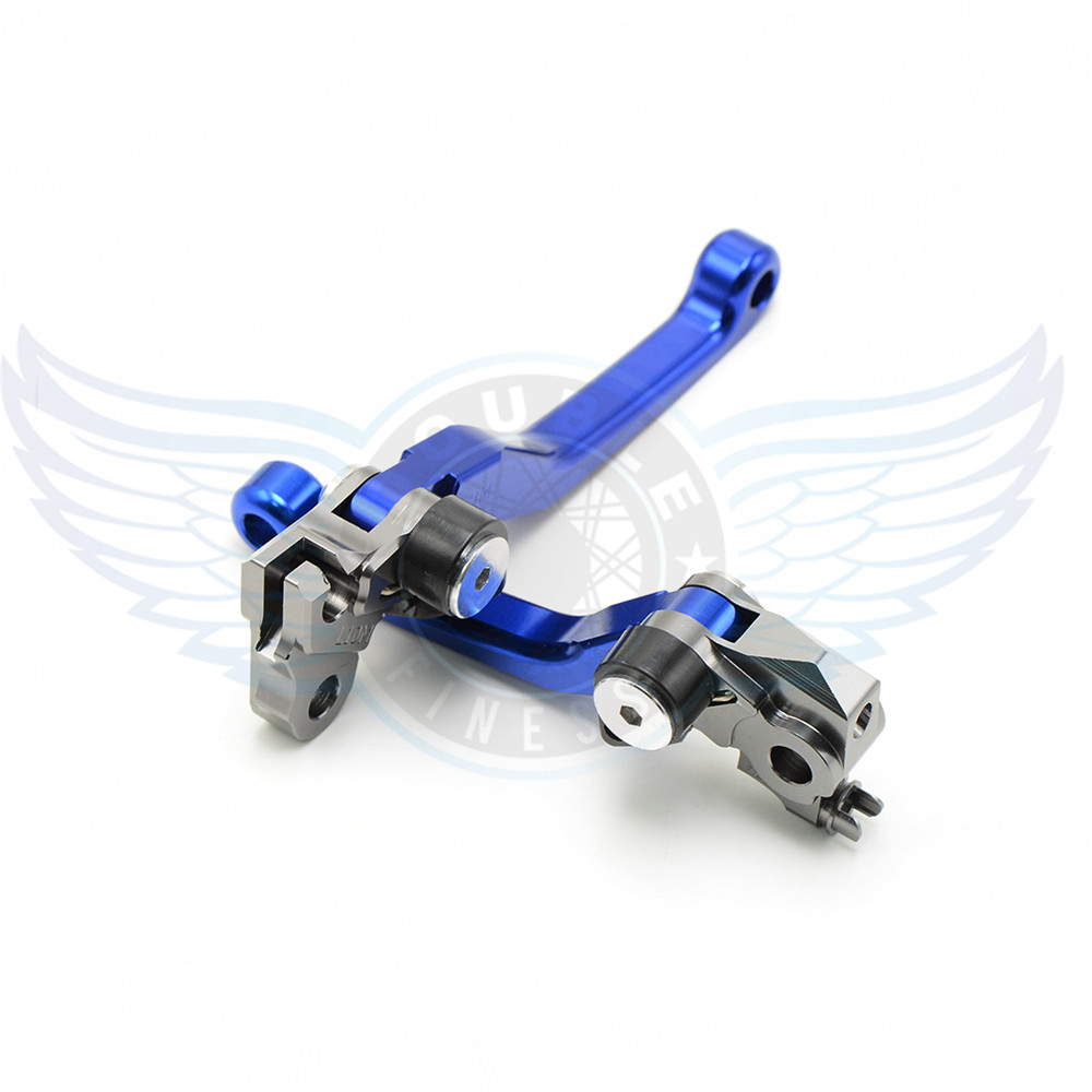 ФОТО new motorcycle accessories folding Pivot Levers Brake Clutch cnc blue For Yamaha YZ426F/450F 2001 2002 2003 2004 2005 2006  2007