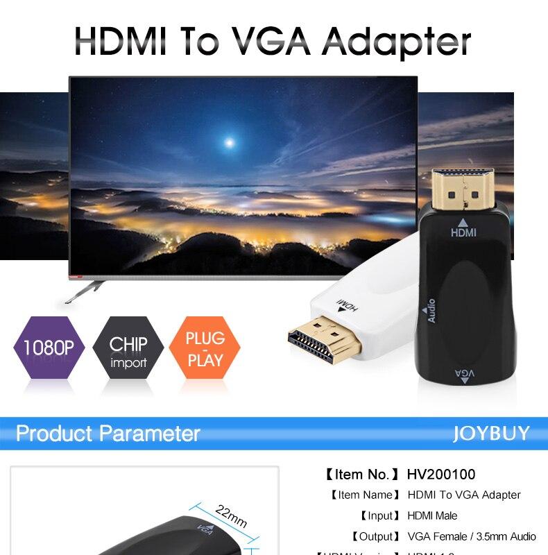 EASYIDEA Mini HDMI Male to VGA Female Adapter 11