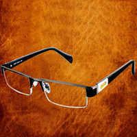 De alta calidad de los hombres de titanio de aleación de gafas no esférico 12 capa de lentes gafas de lectura + 1,0 + 1,5 + 2,0 + 2,5 + 3,0 + 3,5 + 4,0