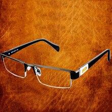 Hohe Qualität MÄNNER Titan legierung Brillen Nicht sphärische 12 Schicht Beschichtet linsen lesebrille + 1,0 + 1,5 + 2,0 + 2,5 + 3,0 + 3.5 + 4,0