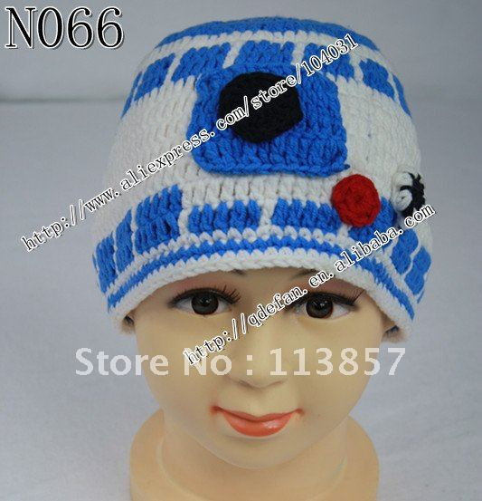e7b4448fff7 Free shipping (10 lot )100% cotton Crochet Star Wars inspired R2D2 ...