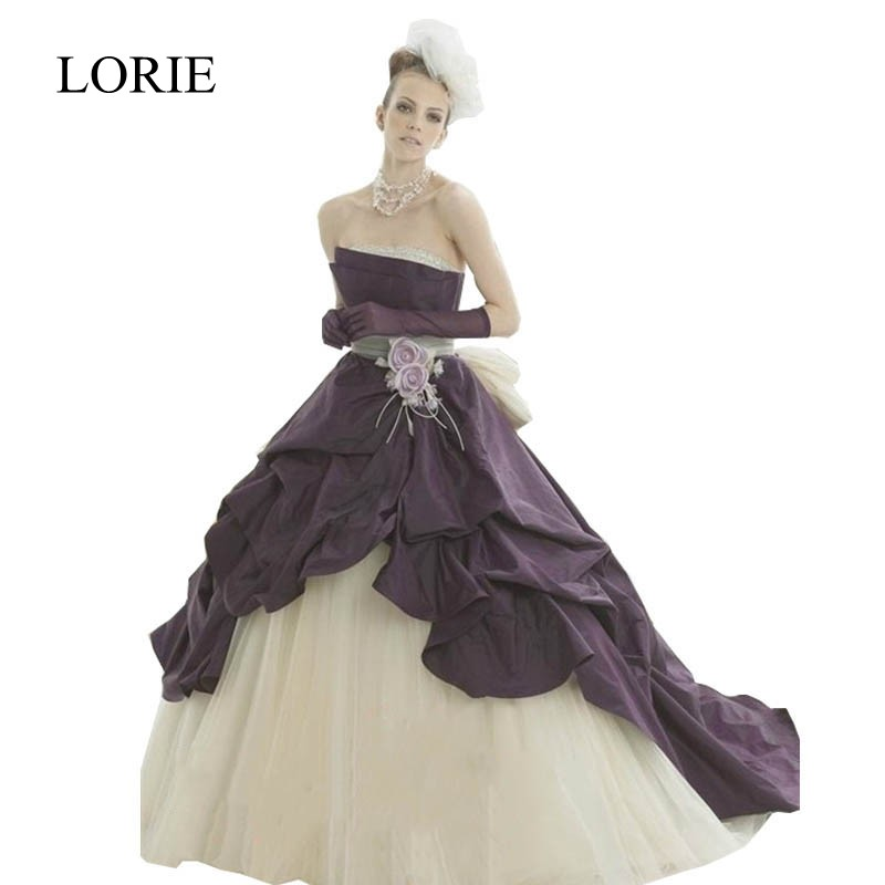 Online Buy Wholesale Purple And White Wedding Dresses From