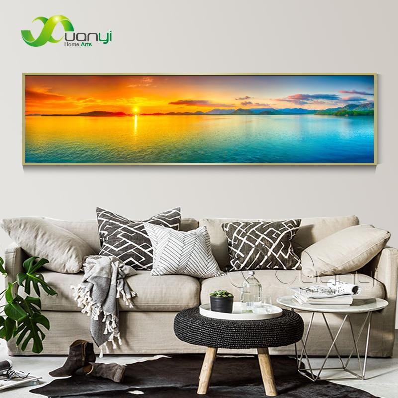 Zalazak sunca More Seascape Canvas Slikarstvo Cuadros Kućni ukras - Kućni dekor - Foto 1