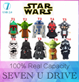 YUFANYF usb flash drive 8 GB 16 GB 32 GB 64 GB Hot venda Por Atacado moda New STAR WARS robô engraçado USB 2.0 Pendrive u disk