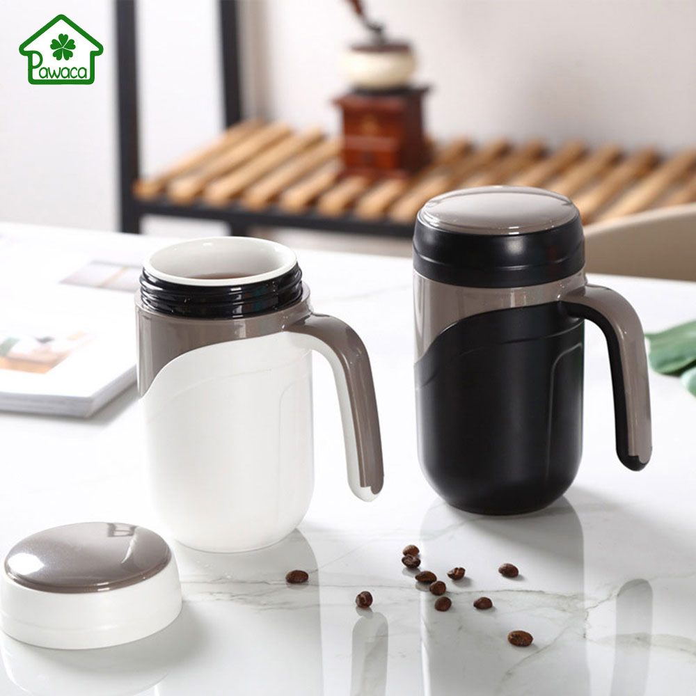 Ceramics Thermos Cup with Handle 380ml Tea Cup Insulated ...