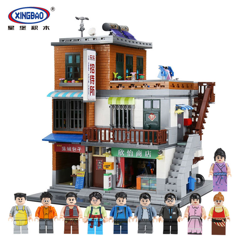 XingBao 01013 Block 2706Pcs Genuine Creative guest House The Toys and store Set Building Blocks Bricks Toy Model Gift managing the store