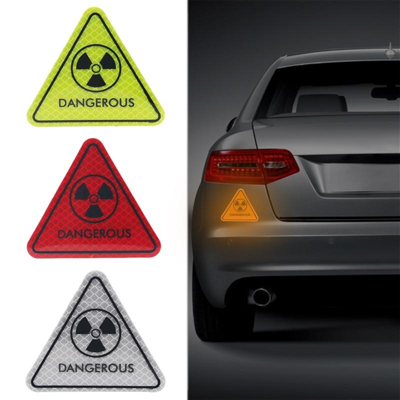 Hazard Warning XY Radiation Sign Car Sticker Decoration Sticker Car Motorcycle Truck Oil Truck Reflective Sticker Driving Safety