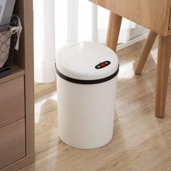 OTHERHOUSE Induction Type Trash Can Sensor Waste Bins With Lid Paper Basket Dustbin Home Office Rubbish Garbage Can Large Size