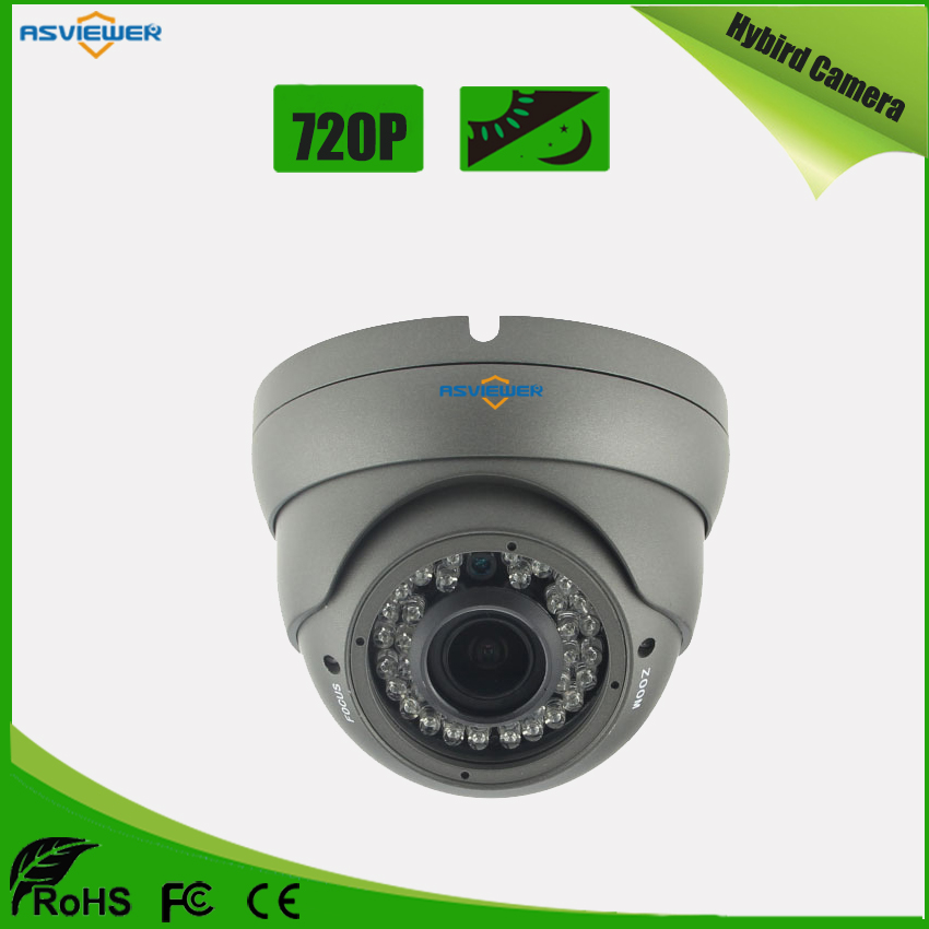 Hybrid Camera with AHD/CVI/TVI/CVBS output support 4 IN 1 mode in 720P Resolution CCTV Dome Camera AS-MHD2301R1Hybrid Camera with AHD/CVI/TVI/CVBS output support 4 IN 1 mode in 720P Resolution CCTV Dome Camera AS-MHD2301R1