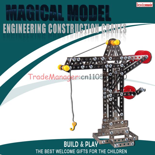 Envío libre de la Aleación de metal monta el juguete Tridimensional montaje montaje de ingeniería modelo de grúa torre grúas B120