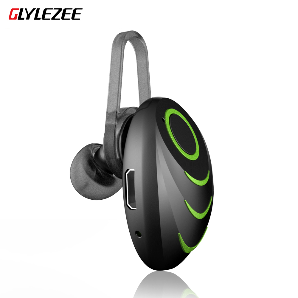 GLYLEZEE Bluetooth Headset 4.0 Handfree Wireless Mini Bluetooth Earphone with Mic Car for Phone Call for iPhone Samsung Xiaomi remax 2 in1 mini bluetooth 4 0 headphones usb car charger dock wireless car headset bluetooth earphone for iphone 7 6s android