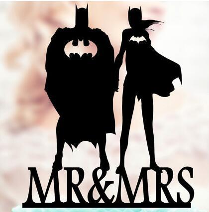 Personalized Batman And Batgirl Superhero Wedding Birthday
