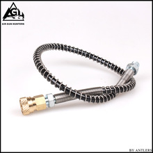 купить Pcp pump compressor adapter hose Airgun Paintball Airsoft 63Mpa/9000PSI 8mm Quick Connector  M10*1 with female connector дешево